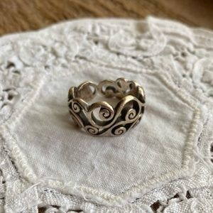 Brighton woven scrolled vine silver ring